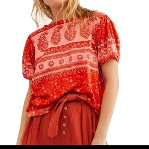New Free People Paisley Boho Top
